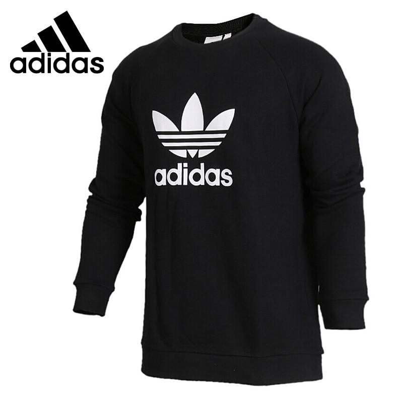 Original New Arrival 2018 Adidas Originals TREFOIL CREW Men's Pullover Jerseys Sportswear adidas new arrival official originals trefoil sweatshirt women s pullover jerseys sportswear aj8397
