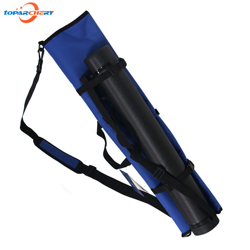 Blue Canvas Archery Recurve Take down Bow Bag for Hunting Shooting Accessories Bows Portable Bag & Arrows Quiver Tube Holder outdoor camouflage archery hunting arrow quiver water resistant archery quiver holder caza arrows bow quiver bag with zipper