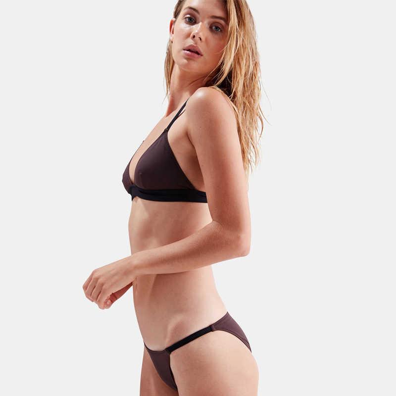 Sexy Bikini Bademode Frauen Bikini Set Feminine Nähte Streifen Weiß Rot Blau Braun Einfache 2020 Neue Strand Party Sonnenbaden