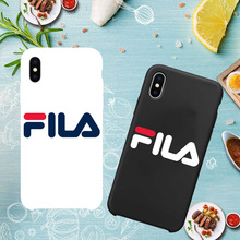 Italien sport marke FILA Harte Matte abdeckung fall für iphone 6 S plus 7 7 plus 8 8 plus X 5 5 s SE XR XS MAX Freizeit Frosted phone cases(China)
