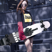 Professional Skateboard Canadian Maple Lonboard Skate Board 4 Wheel Downhill Street Dance Board Roller Drift board 107&117 CM