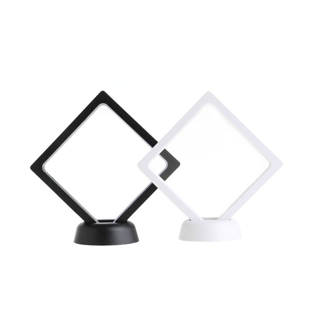 JAVRICK PET Membrane acrylique bijoux suspendus présentoir boîte de support avec Base 9*9 CM