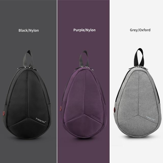 Tigernu New Arrival Men Melon Chest Bag For Male Crossbody Bag Waterproof Nylon Messenger Bag 4