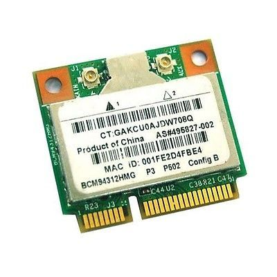 Wireless Adapter Card for Broadcom BCM94312HMG bcm4312 Wifi Half Mini Pci-e card BCM4312  PCI-E WLAN For HP Sps 504593-002