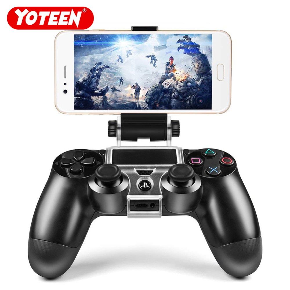 Yoteen Accessories for Sony PlayStation 4 PS4 Smart Phone Clip Clamp Mount Stand Bracket Phone Clip Holder for Dualshock 4