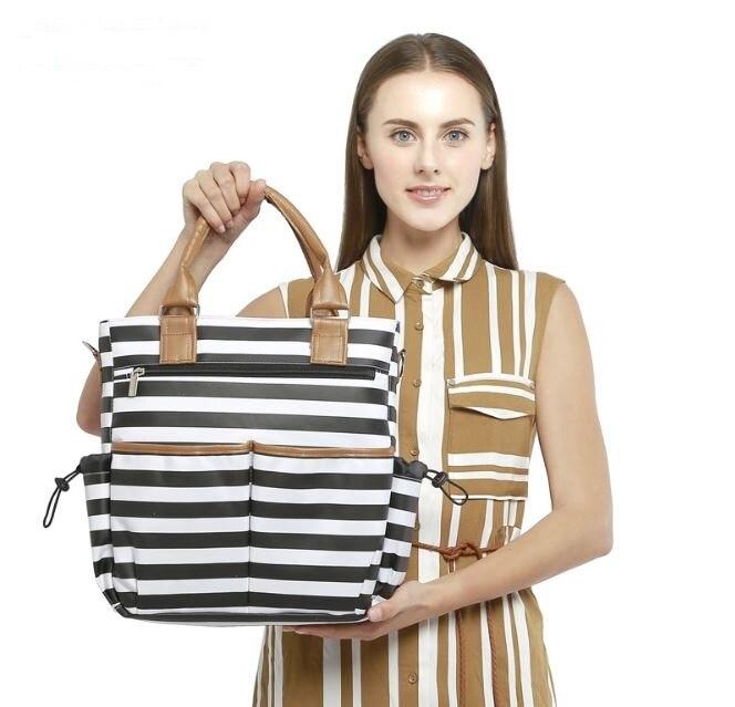 Wasserdichte Kinderwagen Tasche Mom Baby Wickeltasche Umhängetasche Mutterschaft Mummy Windel Organizer Wickelauflage Handtasche Rucksäcke
