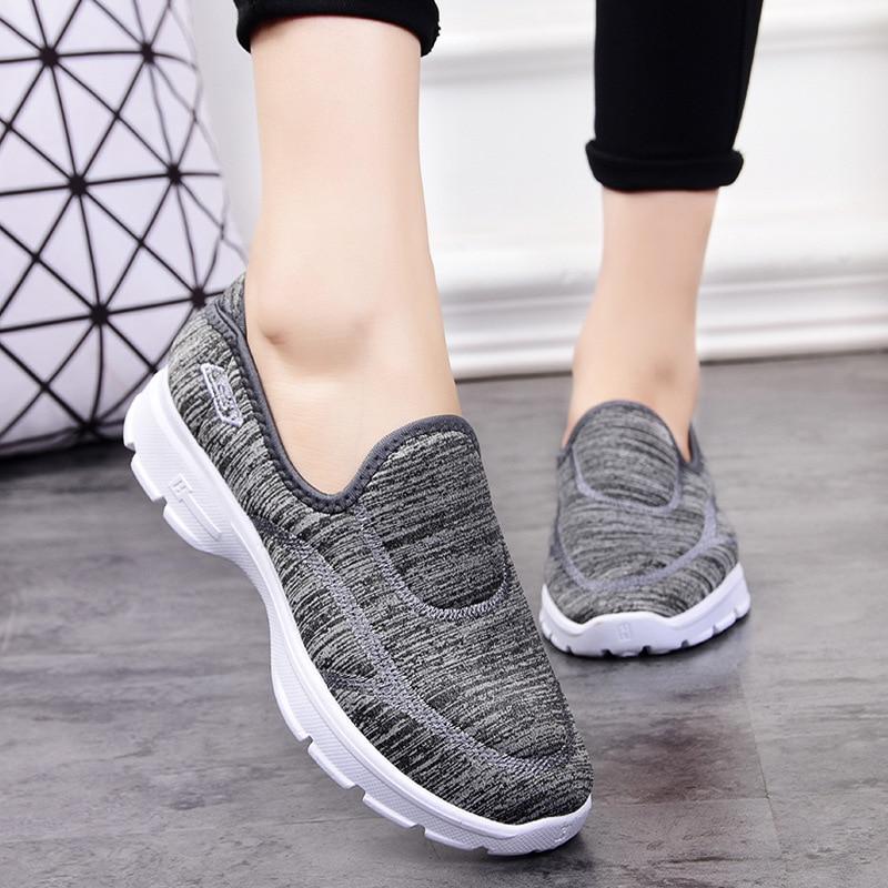 Casual Shoes Women Flats Chunky Sneakers Fashion Women Platform Shoes Breathable Women Loafers Flat Boat Shoes Tenis Feminino 2