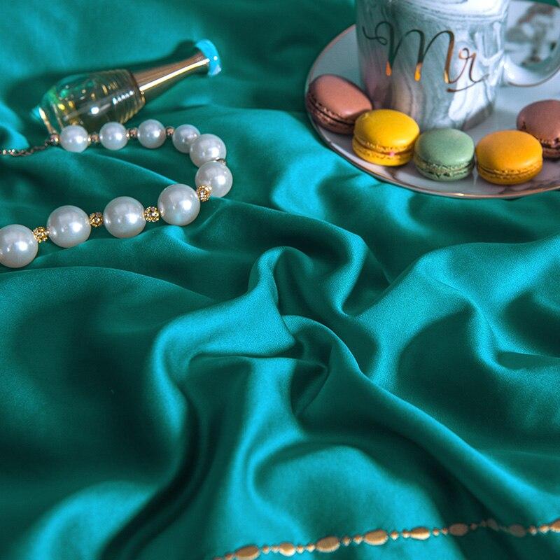 (9)  White silver cotton imitate silk luxurious Bedding Set queen king measurement mattress set Bedsheets linen Europe embroidery Quilt cowl set HTB1Ht1FeOMnBKNjSZFoq6zOSFXaw