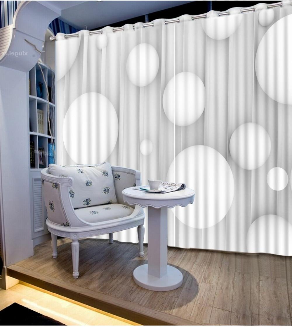 Unique Home Goods: Custom 3d Curtains 3d Window Curtains Creative White