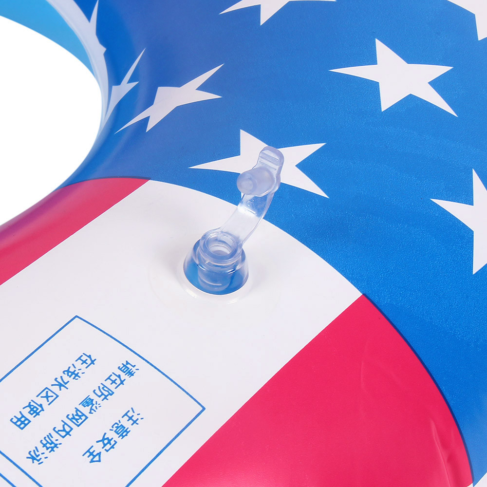 Baby Bathing Toys Summer Beach Party Swim Ring USA Flag Inflatable Tube Ring Swimming Arm Rings Float Raft Water Ring Pool