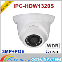 Original IPC HDW1320S IP 3MP IR Eyeball Network Camera CCTV IP Camera POE IR IP67 DH