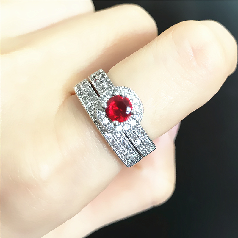 General ruby fashion full rhinestone ring ol all-match accessories arbitraging ...
