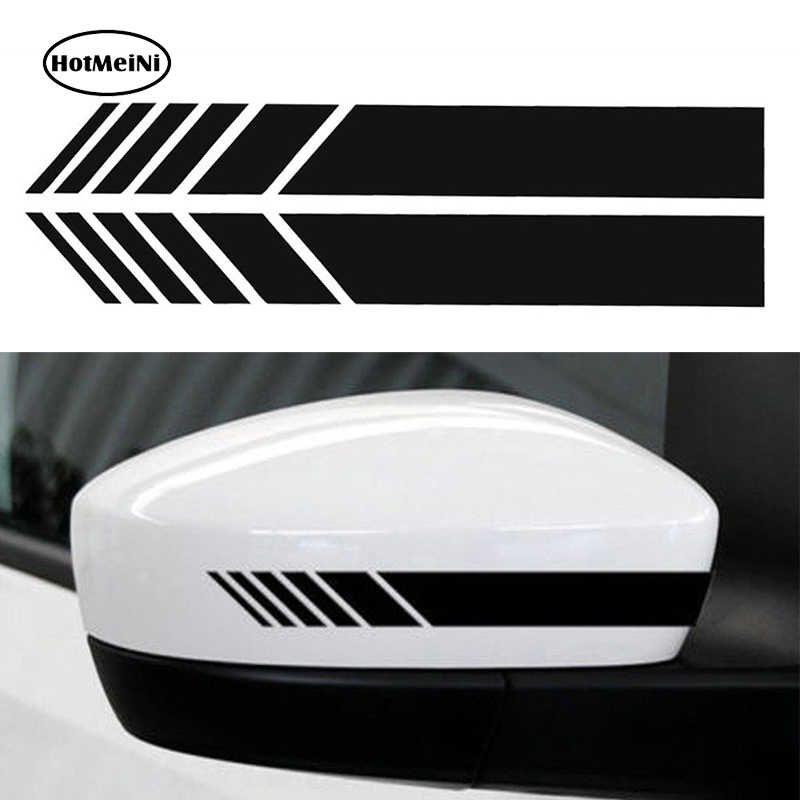 HotMeiNi 2pcs Car Styling Auto SUV Vinyl Graphic Car Sticker Rearview Mirror Side Decal Stripe DIY Car Body Decals 15.3*2cm