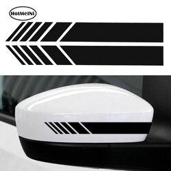 HotMeiNi 2 stücke Auto Styling Auto SUV Vinyl Grafik Auto Aufkleber Rückspiegel Seite Aufkleber Streifen DIY Auto Körper Aufkleber 15,3*2 cm