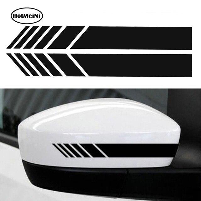 HotMeiNi 2 шт. автомобильный Стайлинг авто внедорожник виниловая графика Автомобильная наклейка зеркало заднего вида боковая наклейка полоса DIY наклейки для автомобиля 15,3*2 см