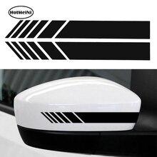 HotMeiNi 2pcs Car Styling Auto SUV Vinyl Graphic Car Sticker Rearview Mirror Side Decal Stripe DIY Car Body Decals 15.3*2cm стоимость