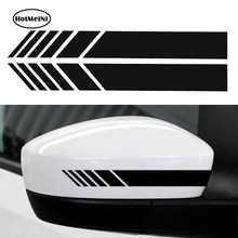 HotMeiNi 2pcs Car Styling Auto SUV Vinyl Graphic Car Sticker Rearview Mirror Side Decal Stripe DIY Car Body Decals 15.3*2cm(China)