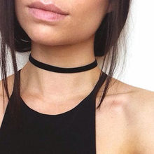 NK926 New Punk Gothic Collier Bijoux Black Tattoo Ribbon Short Statement Chokers Necklace Women Jewelry Clavicle kolye Torque(China)