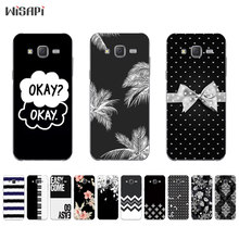 Silicone Cases for Samsung Galaxy S7 Phone Case for Galaxy J5 J7 2015 Shell for S7 Edge Back Cover Black & White Pattern Coque(China)