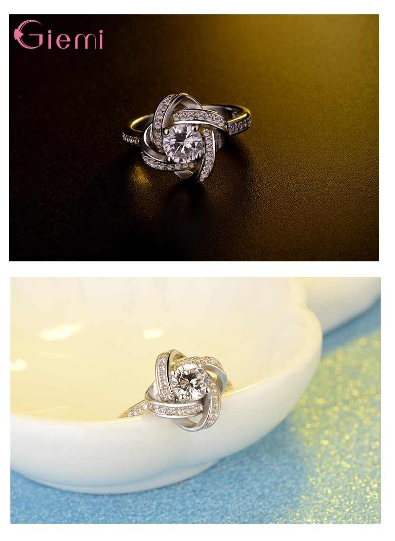 ホット販売の花嫁のウェディングジュエリーセット 925 シルバー無限の愛のネックレスのイヤリング女性の婚約指輪アネッリトレンディジュエリー