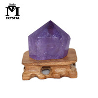 Natural Amethyst Column Crystal Point Healing Wand Mineral Violet quartz Home Decoration Stone Fengshui ornaments