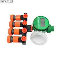 Garden Irrigation Automatic Timer 4 Road Tap3 4 Hose Shunt Connector Drip Irrigation System 1 Set