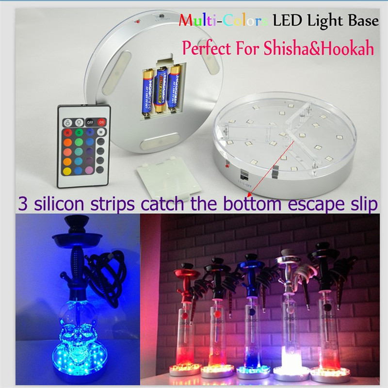Factory Direct Deal !!! 10pieces/lot Rechargeable Multicolors RGB LED 6inch Under Vase LED Light Base With Remote Controller