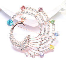 Brooches Austrian Crystal Brooch Pins For Women Top Quality Flower Broches Jewelry Fashion Wedding silver mujer