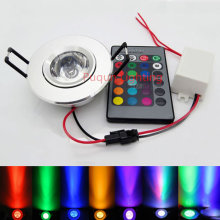 3W LED RGB LED Light Spot Downlight with IR Remote Control Pop Lamp Color Changing AC 85-265V 16 colors changing LED Bulbs