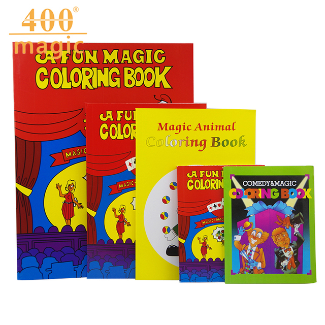 Mini Cartoon Magic Book Children Tricks Coloring Easy To Do Child Gifts Magician Holiday