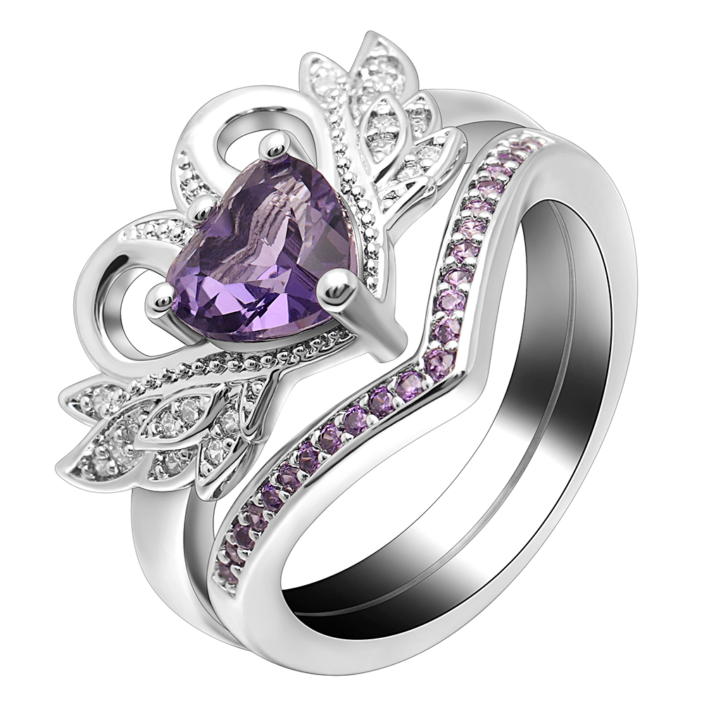 Unique Engagement Rings For Women: UFOORO Wedding Rings For Women Unique Design Angel Shiny