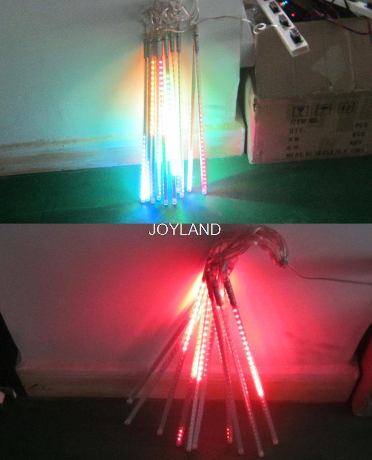Free Shipping Flash Tree LED Halloween Party Christmas LED Meteor Shower Light 1set 10 Tube 50cm 72 LED SMD5050 Rain Tube