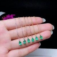 Qi Xuan_S925 Silver Inlaid Columbia Green Stone Water drop Earrings Precious Green Stone Women's Jewelry New Year Gift
