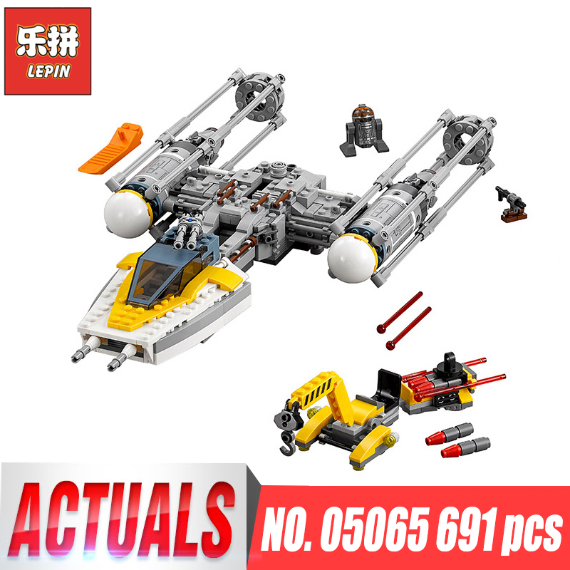 New Lepin 05065 Genuine Star Series The Y toy wing fighter Set Building Blocks Bricks Educational War Toys Gift LegoINGys 75172 rollercoasters the war of the worlds