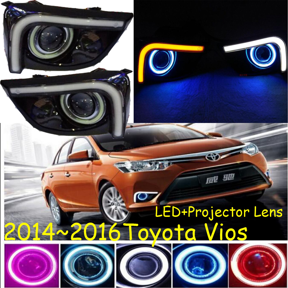 Car-styling,Vios fog lamp,2014~2016,chrome,LED,Free ship!2pcs,Vios head light,car-covers,Halogen/HID+Ballast;Vios автоинструменты new design autocom cdp 2014 2 3in1 led ds150