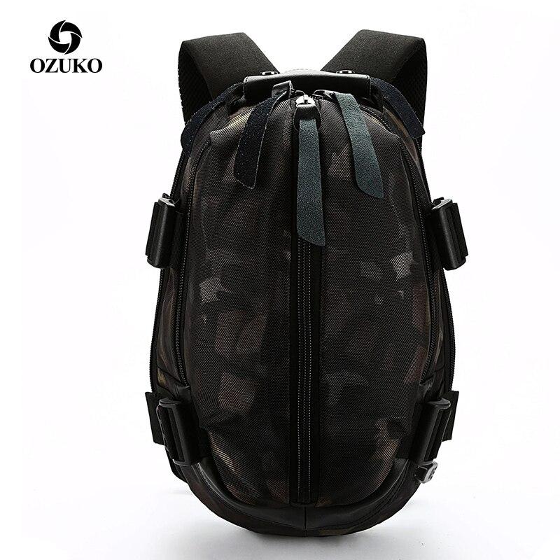 OZUKO Fashion Men USB Charging School Bag Oxford Waterproof Backpack for Teenagers 14 15 6 inch