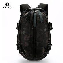 OZUKO Mode Männer USB Lade Schule Tasche Oxford Wasserdichte Rucksack für Jugendliche 14 15,6 zoll Laptop Rucksäcke Männlichen Mochila