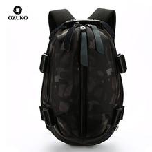 OZUKO אופנה גברים USB טעינת ספר אוקספורד עמיד למים תרמיל עבור בני נוער 14 15.6 אינץ מחשב נייד תרמילי זכר המוצ ילה
