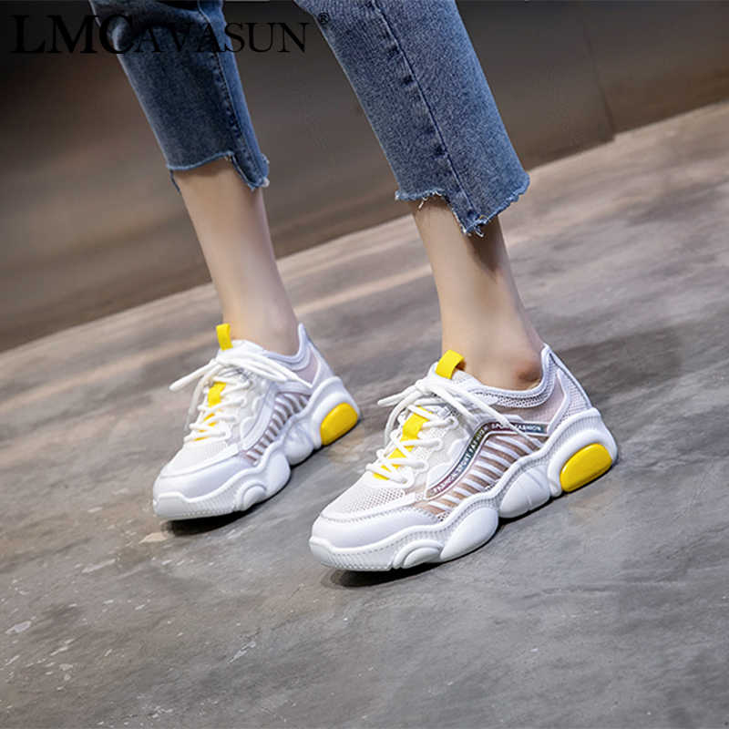 98662e5e27 LMCAVASUN Breathable Mesh Women's Running Shoes Casual Fashion Summer Sport  Shoes For Women Outdoor Walking Ladies Girl Sneakers