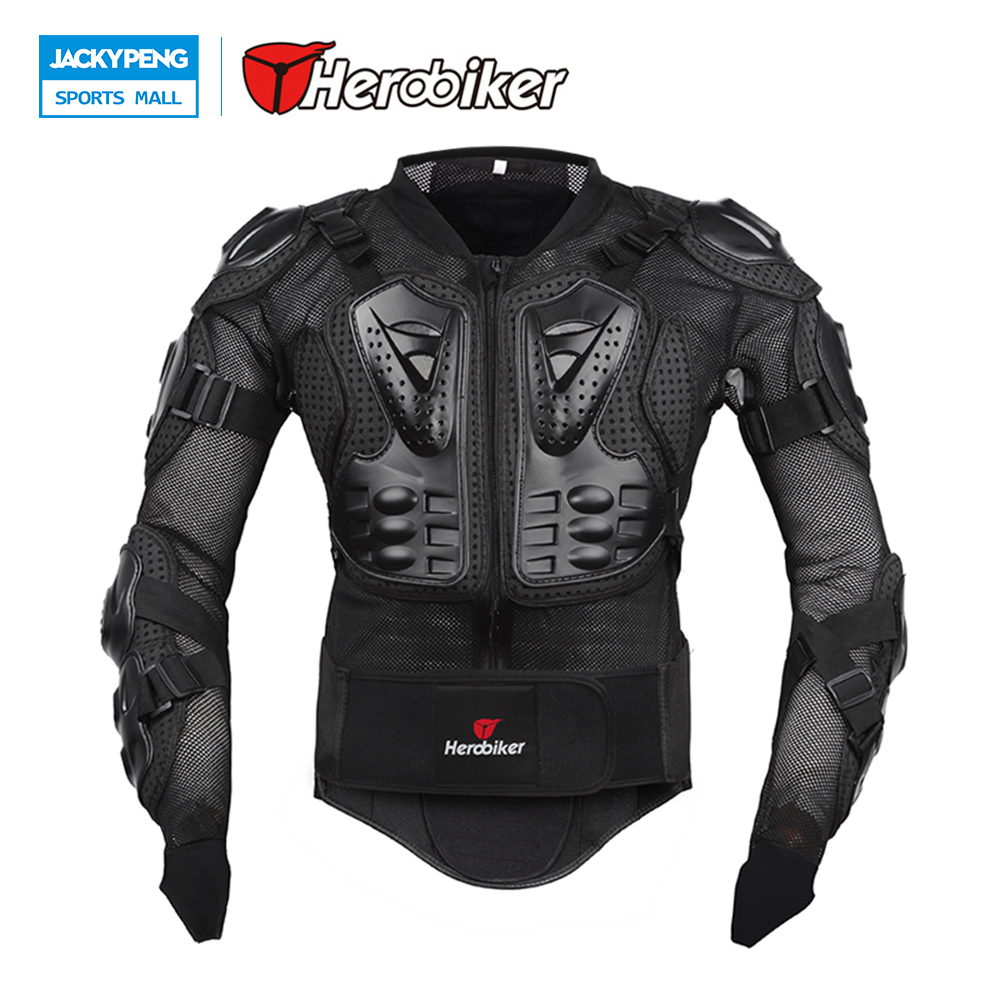 Herobiker Full Body Armor Motorcycle Jacket Chest Racing Cycling Biker Armor Motor Motocross Protector Back Support herobiker back support armor removable