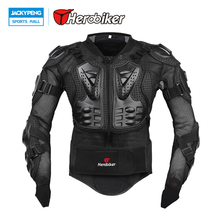 Herobiker Full Body Protection Motorcycle Jacket Chest Racing Cycling Biker Black Red Motor Motocross Protector Back Support