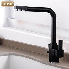 Фильтр XOXO для кухни, кран для питьевой воды с одним отверстием, вращающийся на 360, фильтр для чистой воды, кухонные раковины, смеситель на бортике, кран 81018