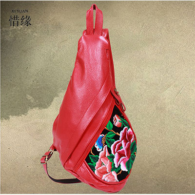 XIYUAN BRAND fashion red black brown color Women girls Zipper embroidered Shoulder Bag Leather Crossbody Bags luxury For lady xiyuan brand fashion red black brown color women girls zipper embroidered shoulder bag leather crossbody bags luxury for lady