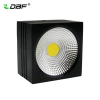 [DBF]Surface Mounted LED Downlight 5W 7W Dimmable Black Square COB Downlight AC 110V/220V Ceiling Spot Light Home Decoration
