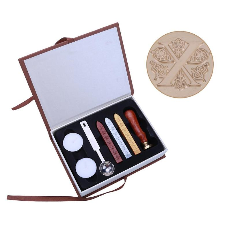 X Z English Alphabets Flower Metal Sealing Wax Clear Stamps For Wedding Invitation Decorative Stamps Set with Gift Boxs elegant flower lace lacut cut wedding invitations set blank ppaer printing invitation cards kit casamento convite pocket
