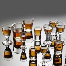 6 шт. кружка Хрустальная чашка рюмка креативная Высокая спиртовая белая стеклянная кружка стаканы вечерние чаши Очаровательная Толстая Нижняя чашка