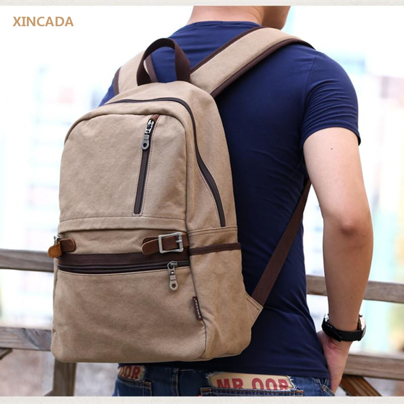 XINCADA Retro Canvas Backpacks Men Large Backpack Student College Vintage Mochila Rucksack Travel Daypack Mochila Escolar hot casual travel men s backpacks cute pet dog printing backpack for men large capacity laptop canvas rucksack mochila escolar