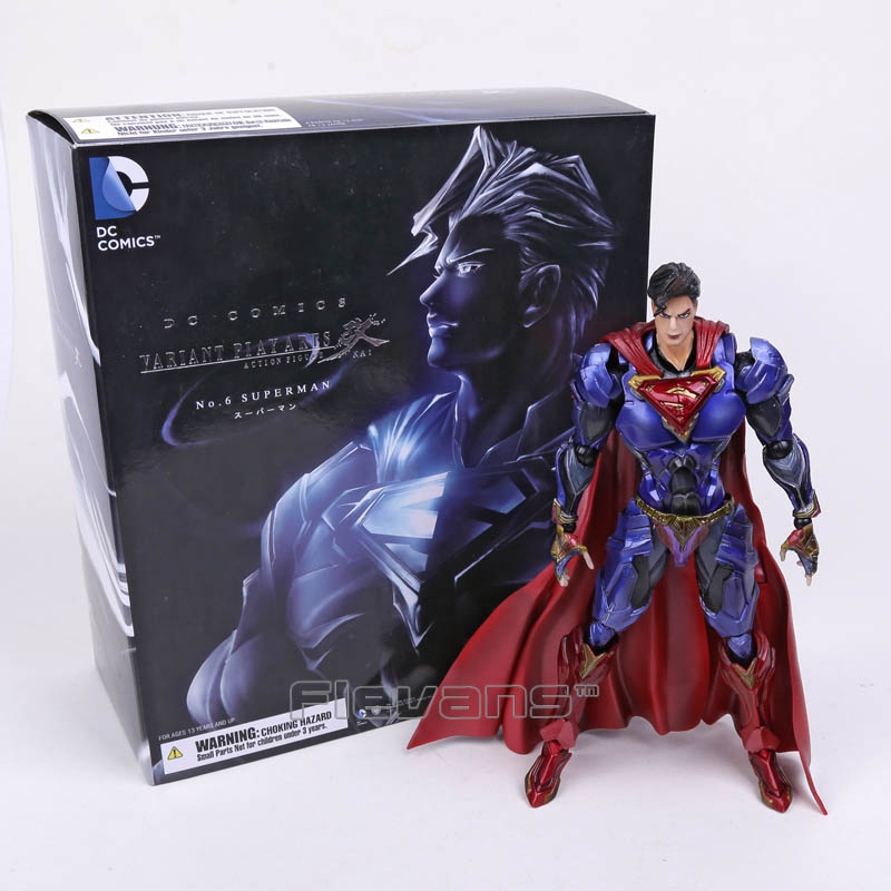 SQUARE ENIX Play Arts KAI DC COMICS NO.6 SUPERMAN PVC Action Figure Collectible Model Toy 26cm