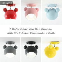 Artpad  Nordic Corridor Ceiling Lamp Hallway Porch Cloakroom Balcony Dimmable 7W Modern Light E27 Bulb with 3 Colors
