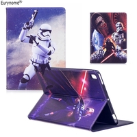 New Fashion Movie Star Wars Cartoon Pu Leather Stand Holder Case Cover For Ipad Air 2